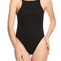 Ribbed For Your Pleasure Black Bodysuit