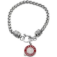 Alabama Crimson Tide Ladies Charm Bracelet
