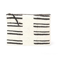 Rebel Clutch White Mud Cloth
