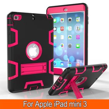 New Retina Kids Baby Safe Armor Shockproof Heavy Duty Silicone Hard Case Cover For Apple iPad mini 1 2 3 7.9'' Tablet PC