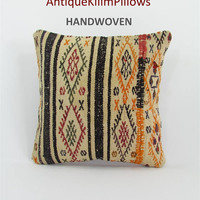 kilim pillow cover cushions oriental pillow case throw pillow urban kilim pillow kilim rugs western pillow case ethnic pillow cover 000091