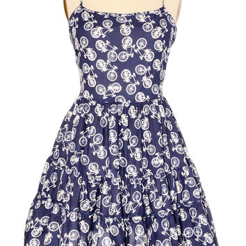 Breezy Bicycle Print Sundress