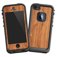 """Brown Maple """"Protective Decal Skin"""" for LifeProof 5 Case"""