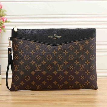 Louis Vuitton LV Fashion Women Leather Handbag Tote Clutch Bag Wrist Bag I/A