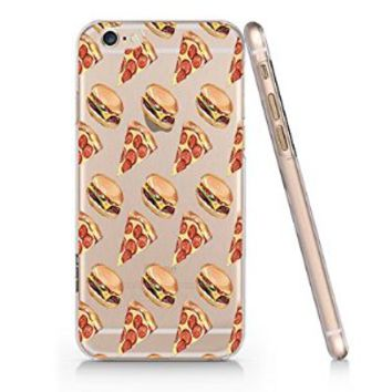 Pizza Fries French Fast Food Slim Pattern Iphone 6 Case, Clear Iphone 6 Hard Cover Case (For Apple Iphone 6 4.7 Inch Screen)-Emerishop (AH934)