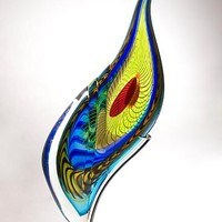 Peacock Sculpture by Mike Wallace: Art Glass Sculpture | Artful Home