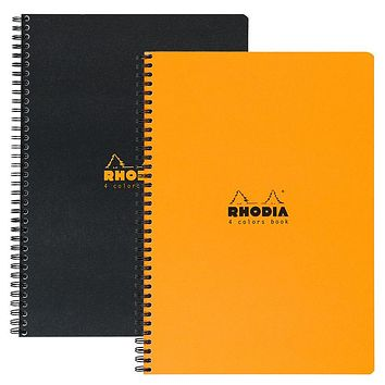 Rhodia 4 Colors Spiral Notebook