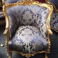 RESERVED French  Vintage Baroque Bergere Chair