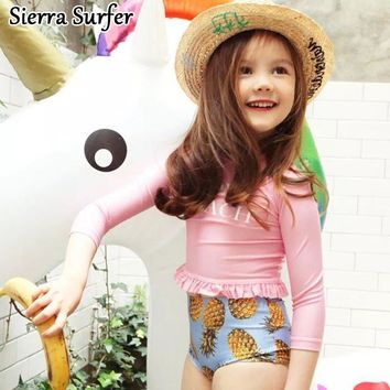Kids Swimwear For Girls 2018 Two Piece 2 Children's Cute Swimsuits Children Swimsuit Triangle Girl Swimming Suit Candy Color