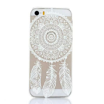 Luxury Henna mandala flower Painted pattern Hard Dream Catcher Paisley Plastic Case Skin Coque Shell Cover for Apple iphone 5c