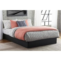 Maven Upholstered Faux Leather Platform Bed, Black, Multiple Sizes - Walmart.com