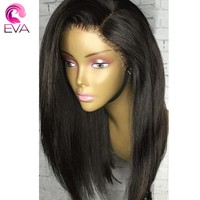"Eva Hair Lace Front Human Hair Wigs Pre Plucked Hairline With Baby Hair Straight 10""-26"" Brazilian Remy Hair Wigs Natural Color"