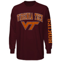 Virginia Tech Hokies Big Arch N' Logo Long Sleeve T-Shirt – Maroon