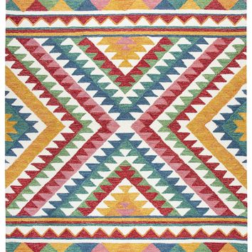 Rizzy Home Zingaro ZI023B Natural Small Triangles Area Rug