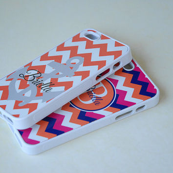 Initial Phone Case, Personalized Phone Cases, Matching Cases for Couples, Best Friends, Bridesmaids, Wedding Party, Geometric Chevron Bold