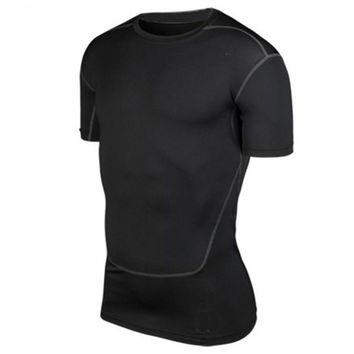 S-XXL Men Compression Base Layer Tee Shirts Athletic Tops Sports Collection New