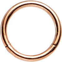 "16 Gauge 5/16"" Rose Gold PVD Stainless Steel Hinged Segment Ring 