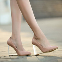 Gorgeous Crystal Clear High Heels Womens Pointed Toe Dress Party Shoes Pumps
