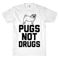 PUGS NOT DRUGS TEE - PREORDER