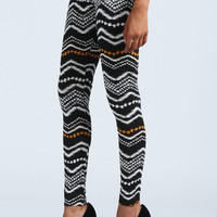 Izzie Zig Zag Patterned Leggings