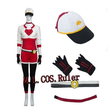 Hot Instinct Mystic Cosplay Costume  Trainer Uniform Go Team Valor Red High Quality Custo SizeKawaii Pokemon go  AT_89_9