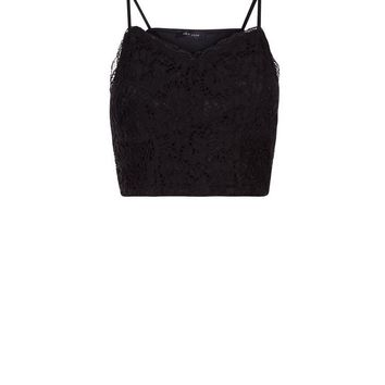 Black Lace V Neck Bralet | New Look