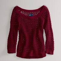 AE Open Stitch Sweater