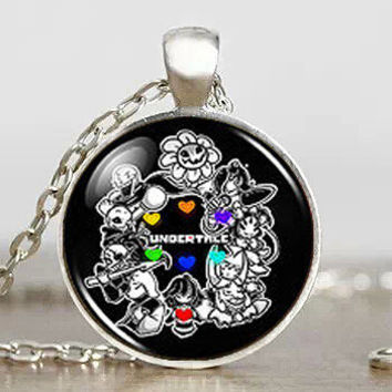 Undertale fans Game Gamer Gaming Handmade Fashion Necklace brass silver Pendant steampunk Jewelry womens chain toy mens cosplay