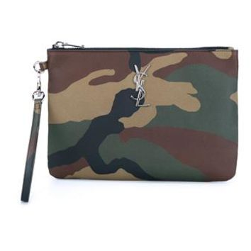 SAINT LAURENT   Camouflage Leather Pouch   brownsfashion.com   The Finest Edit of Luxury Fashion   Clothes, Shoes, Bags and Accessories for Men & Women