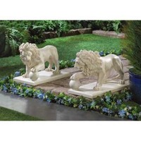 Magnificent Guardian Lion Statue Pair