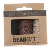 Hemp 1mm Twine Bead Cord, 29.5-Feet, Natural