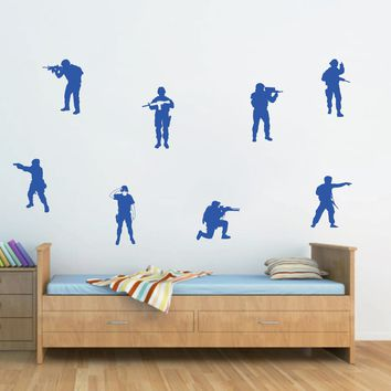 ik706 Wall Decal Sticker soldiers US Army force vest