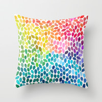 Rain 11 Throw Pillow by Garima Dhawan