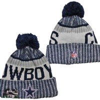 promo code be8d8 2387e NFL Dallas Cowboys New Era 2017 On-Field Sideline Official Sport Knit Beanie