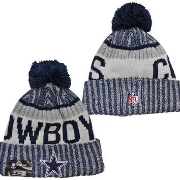 NFL Dallas Cowboys New Era 2017 On-Field Sideline Official Sport Knit Beanie