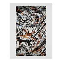 Reverse Abstract V-Twin Poster