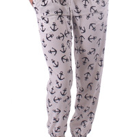 Sailor Print Harem Pants