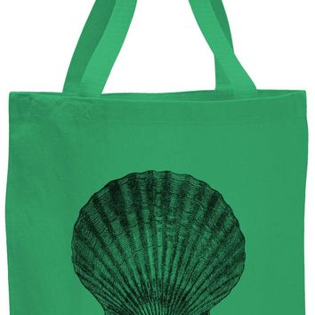Austin Ink Apparel Scallop Shell Cotton Canvas Tote Bag