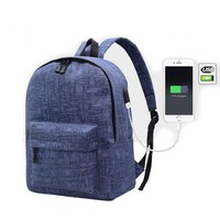 External Charging USB Backpack Women Travel Bag Canvas Backpack College Student School Backpack Bags for Teenagers Mochila 445