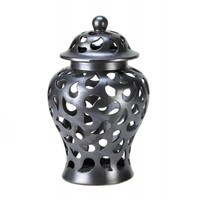 Ceramic Decorative Teardrop Jar With Lid