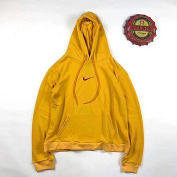 PEAPUF3 NIKE Print Women's Long Sleeve Hoodies Sweater Yellow G-A-XYCL