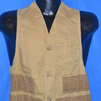 50s American Field Brown Duck Cotton Hunting Vest Small