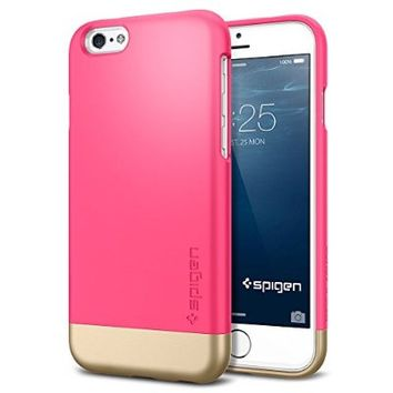 iPhone 6 Case, Spigen® [Style Armor] Safe Slide [Azalea Pink] SOFT-Interior Scratch Protection with Dual Layer Trendy Stylish Color Hard Case for iPhone 6 (2014) - Azalea Pink (SGP11045)