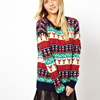 ASOS Holiday Pattern Sweater - Multi