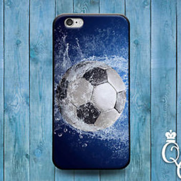 Cool Wet Blue Soccer Ball Custom Case Futbol Cover iPod iPhone Sport Guy Girl