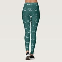 AMINO ACID CHEM STRUCTURE PRINT LEGGINGS