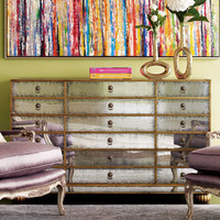 """John-Richard Collection - """"Orleans"""" Mirrored Chest - Horchow"""