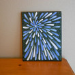 Painting Blue Flower Aboriginal Inspired by Acires on Etsy
