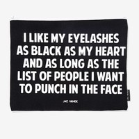 Jac Vanek Eyelashes Graphic Pouch