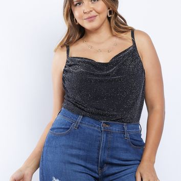 Plus Size Day And Night Glitter Tank